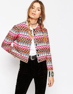 Those summer nights are in need of this embroidered jacket
