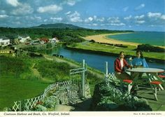 John Hinde postcard of Courtown Harbour Wexford. Hinde's postcards are fantastically retro and slightly surreal