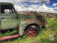 Old Mining Truck Rusts in a Field at the Atlas Coal Mine Photographic Print by Pete Ryan at Art.com