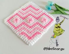 This Pin was discovered by Meh Crochet Granny, Crochet Stitches, Crochet Baby, Crochet Patterns, Crochet Carpet, 3d Pattern, Baby Sweaters, Quilting Projects, Crochet Flowers