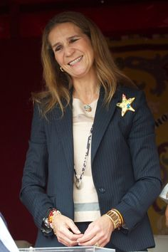 Spanish Infanta Elena attends the Red Cross Fundraising Day 2013 on 3rd Oct 2013 in Madrid, Spain.