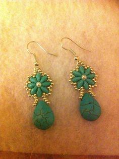 Handmade Super Duo Earrings #Handmade