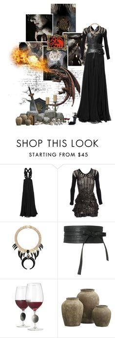 """Targaryens will rise again"" by miumiu ❤ liked on Polyvore featuring Roberto Cavalli, Mark Fast, Oasis, Poste, Gryphon, Crate and Barrel and Yves Saint Laurent"