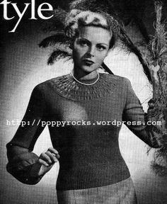 The Vintage Pattern Files: 1940's Knitting - Glamis Jumper