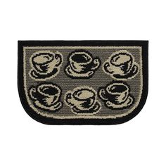 Structures Coffee Rush Textured Loop Wedge-Shaped Kitchen Slice Rug
