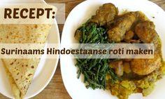 recept surinaamse hindoestaanse roti maken, ook vegetarisch (zie recept).
