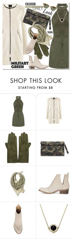 """""""Army Green-YOINS"""" by j-sharon ❤ liked on Polyvore featuring Sermoneta, Anne Klein, Oliver Peoples, Gogreen and yoins"""