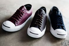 Converse Jack Purcell – Brogue Leather Pack | CounterKicks SKU1S962, Black, Size 8.5 $50
