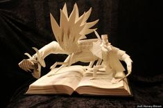 Sculptures Made From Books By Jodi Harvey-Brown ----- Looks like Smaug from Tolkien's Hobbit
