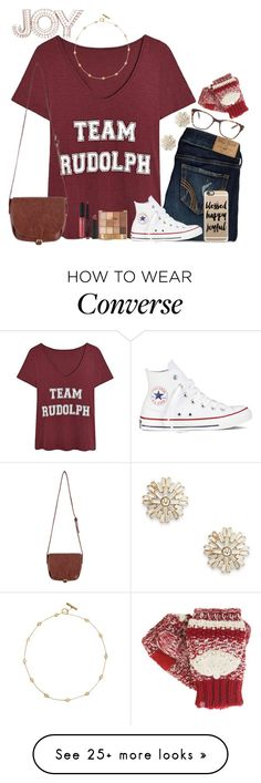 """Untitled #171"" by fashion-n-o-w on Polyvore featuring Hollister Co., Converse, Prism, Tory Burch, Sole Society, Isotoner, Bare Escentuals, Threshold and Casetify"