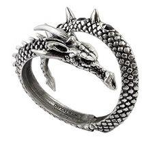 Alchemy Gothic Vis Visa Dragon Wrap Pewter Bracelet Alche...