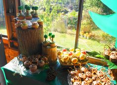 woodland forest baby shower treats [those trees!]