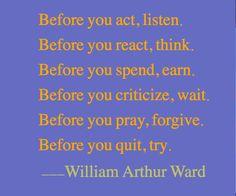 words of wisdom…