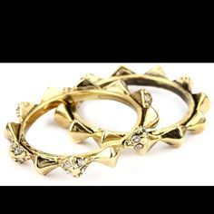 House of Harlow Gold Spiked Rings - Size 7 Brand new with tags House of Harlow spiked rings. Gold plated. Size 7. No longer available in stores. Purchased from Shopbop House of Harlow 1960 Jewelry