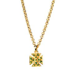 Jewelled Cross Pendant Necklace from Aspinal of London