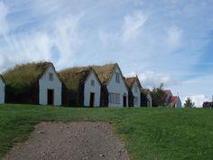 Casas tipicas en Islandia
