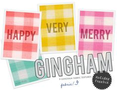 Freebie: Gingham Fabric Textures | Free scrapping | Scoop.it