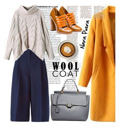 Mustard Wool Coat by NaraPuera on Polyvore featuring Valentino, Miu Miu, Lanvin and By Terry