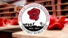 Over ceramic poppies will be planted in the moat of the Tower of London to commemorate the fallen in the first World War Poppies London, Ceramic Poppies, Royal British Legion, Armistice Day, Remembrance Day, Tower Of London, World War One, British History, Ceramic Artists
