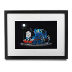 """PingoWorld 'Sleeping Thomas The Tank Engine' by Banksy Framed Graphic Art Size: 23"""" H x 27"""" W x 1.5"""" D"""