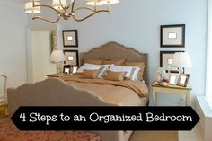 Easy ways to organize your bedroom and lessen your anxiety and stress!