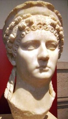 Poppaea Sabina, wife of the Emperor Nero. Marble Bust, 1st c AD. National Museum of Rome, Palazzo Massimo