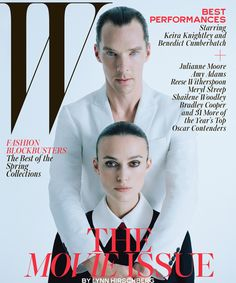 Benedict Cumberbatch & Keira Knightley Stun On The Cover Of W Magazine #refinery29  http://www.refinery29.com/2015/01/80250/benedict-cumberbatch-keira-knightley-w-magazine-movie-issue
