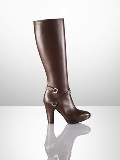 Atessia Calfskin Buckle Boot - Collection Shoes   Shoes - RalphLauren.com
