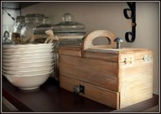 small wooden box - my shabby white home