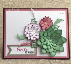 Occasional Sentiments, Succulent framelets, stampin up