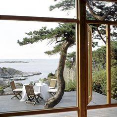 Best breakfast view. Scandinavian Retreat: Norwegian cabin