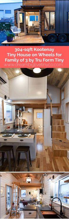 304-sqft Kootenay Tiny House on Wheels for Family of 3 by Tru Form Tiny