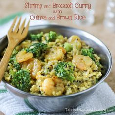 Shrimp and Broccoli Curry | DizzyBusyandHungry.com - Quick and easy, healthy and delicious. And the kids love it!