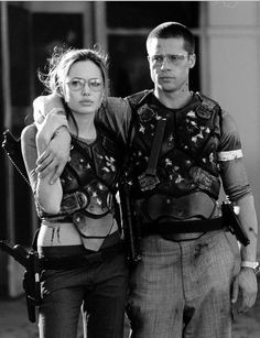 Angelina Jolie and Brad Pitt in Mr and Mrs Smith [2005] Power Couple