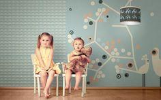 Tapeten - Tapete My little princess, love light (blau) - ein Designerstück von Designstudio-DecorPlay bei DaWanda