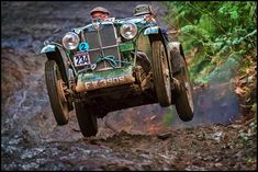 A pair of old dudes thrashing an MG TC.  ☆ Pinned by Rallycross360....