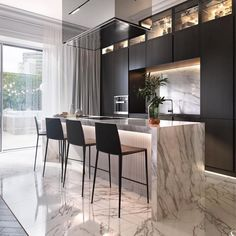 Kitchen countertop materials: pros and cons Modern Kitchen Design Cons Counterto Luxury Kitchens Luxury Kitchen Design, Kitchen Room Design, Best Kitchen Designs, Luxury Kitchens, Home Decor Kitchen, Rustic Kitchen, Interior Design Kitchen, Modern Interior Design, Luxury Interior