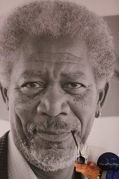 Moran Freeman quenching his thirst. #sodasteam #thirsty #morganfreeman