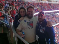 Verizon Center. May 2, 2012 Rangers vs. Washington. Game 3 Eastern Conference Semifinals. Met the Blueshirt Buzz Crew - Lindsay the Otter & Mike P.