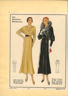 Les Créations Parisiennes 1932 & 1933