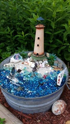 At the Ocean, pot in the Fairy Garden Gardens are not only for lawns and domestic play fields, but will also be best spots for storage sheds wherein you ca Beach Fairy Garden, Asian Garden, Chinese Garden, Backyard Sheds, Garden Sheds, Garden Waterfall, Am Meer, Fairy Houses, Clay Pots