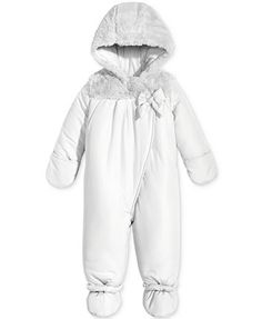 3d11b4aeb First Impressions Footed Snowsuit with Faux Fur Trim, Baby Girls (0-24  months