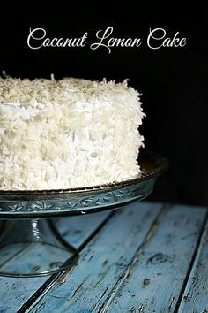 Coconut Lemon Cake at foodiewithfamily.com