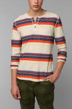 Koto Printed Henley Shirt