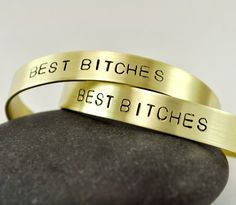 Set of 2 Best Friends Bracelets / Hand Stamped Personalized Jewelry Cuff / Cheap Jewelry, Metal Jewelry, Jewelry Gifts, Jewelry Accessories, Fashion Accessories, 2 Best Friends, Best Friend Gifts, Gifts For Friends, Friends Forever
