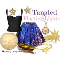 """Tangled-Floating Lights"" Probably the cutest thing I've ever seen Disney Character Outfits, Disney Princess Outfits, Disney Dress Up, Disney Themed Outfits, Character Inspired Outfits, Disney Bound Outfits, Disney Clothes, Princess Clothes, Lit Outfits"