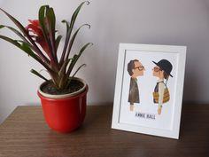 Ilustración. Annie Hall. Basada en la película de Woody Allen.
