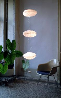 Pendant lamp / contemporary / paper PIONTS DE SUSPENSION CÉLINE WRIGHT