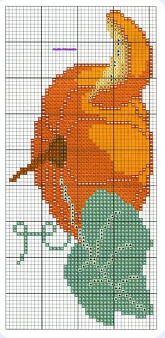 Counted Cross Stitch Patterns, Cross Stitch Designs, Cross Stitch Embroidery, Perler Bead Emoji, Pumpkin Crafts, Tapestry Crochet, Embroidery Techniques, Filet Crochet, Baby Patterns
