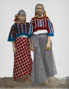 1334708. Two Bukidnon women wear traditional clothing and pose for a portrait.